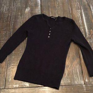 Daisy Fuentes black sweater Sz M